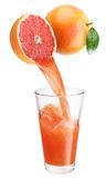 Fresh grapefruit juice. royalty free stock photography