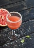 Fresh grapefruit juice in glass Royalty Free Stock Image