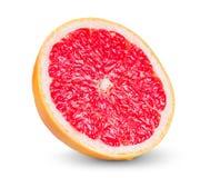 Fresh Grapefruit juicy slice isolated on white Stock Photo
