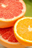 Fresh grapefruit and orange. Vitamins for health. Stock Photography