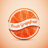 Fresh grapefruit with ribbon Royalty Free Stock Image