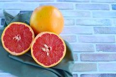 Fresh grapefruit. Fresh slice of grape fruit Royalty Free Stock Images