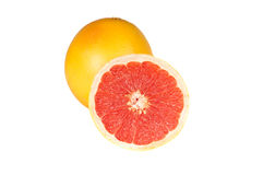 Fresh grapefruits. On white background Royalty Free Stock Photo