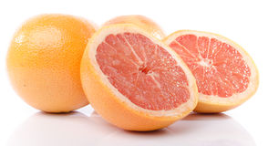 Fresh grapefruits Royalty Free Stock Photos