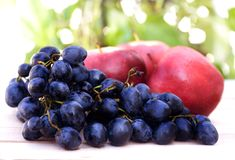 Fresh grapes Royalty Free Stock Images