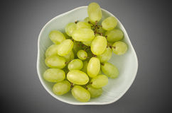 Fresh Grapes. In a Ceramic Bowl Stock Photography