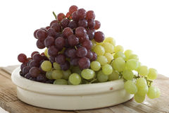 Fresh grapes in a bowl Royalty Free Stock Photos