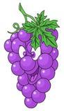 Fresh grapes cartoon Stock Photography