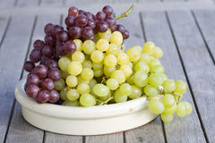 Fresh grapes in the country house style Royalty Free Stock Images