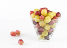 Fresh Grapes Glass Isolated Stock Photos