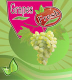 Fresh grapes juice Banner Royalty Free Stock Photos