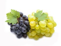 Fresh  grapes with leaves Royalty Free Stock Images