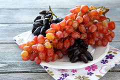 Fresh grapes on a plate Royalty Free Stock Image