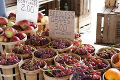 Fresh Grapes for Sale. At farmers market stock photos