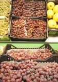 Fresh grapes in supermarket Royalty Free Stock Photo