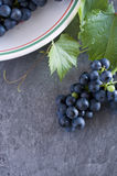 Fresh Grapes from Vineyard in White Bowl Stock Image