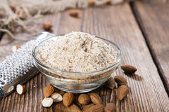 Fresh grated Almonds Royalty Free Stock Images