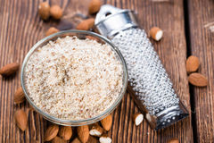 Fresh grated Almonds Stock Image