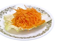 Fresh grated carrots Royalty Free Stock Photography