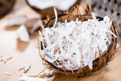 Fresh Grated Coconut Royalty Free Stock Photo