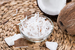 Fresh Grated Coconut Stock Photography