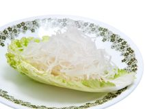 Fresh grated daikon radish Stock Photo