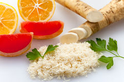 Fresh grated horseradish Stock Photo