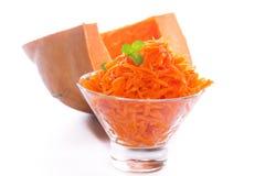 Fresh grated pumpkin Royalty Free Stock Image