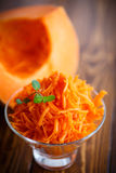 Fresh grated pumpkin Stock Images