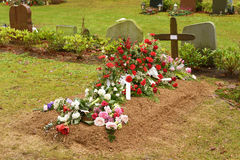 Fresh grave Stock Images