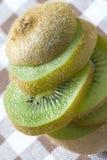 Fresh greeen kiwi fruit Stock Image