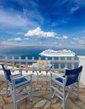Fresh breakfast by seaside Stock Photography