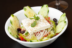 Fresh Greek Garden Salad Stock Photography