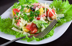 Fresh greek salad Stock Photos
