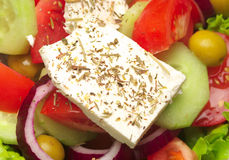 Fresh greek salad Royalty Free Stock Photos