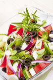 Fresh greek salad. Royalty Free Stock Image