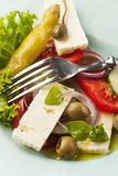 Fresh greek salad Royalty Free Stock Image