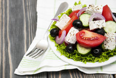 Fresh Greek salad Royalty Free Stock Images