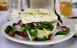 Fresh Greek salad Stock Photo
