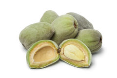 Fresh green almonds Stock Images