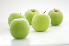 Fresh Green Apple Royalty Free Stock Photos