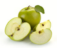 Fresh green apple Stock Photography