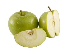 Fresh Green Apple. A close up on a fresh green apple Royalty Free Stock Photo