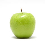 Fresh green apple. Isolated on white Stock Photo