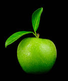 Fresh green apple closeup Stock Images