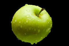 Fresh green apple and drops Stock Photo