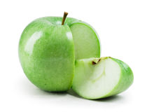 Fresh green apple isolated Stock Images