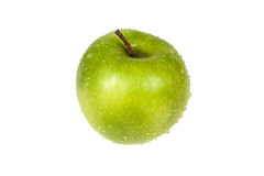 Fresh green apple. On an isolated background Stock Image