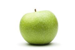 Fresh green apple isolated over white Stock Images