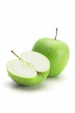 Fresh green apple, isolated. On white background Royalty Free Stock Photo